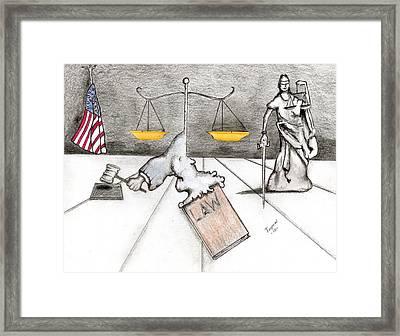 Rebirth Of Law Framed Print by Dan Twyman