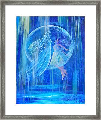 Rebirthing The Sacred Feminine Framed Print by The Art With A Heart By Charlotte Phillips