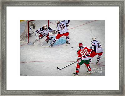 Rebound Framed Print by David Rucker