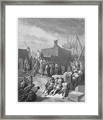 Rebuilding Of The Temple Is Begun  Framed Print by Oprea Nicolae