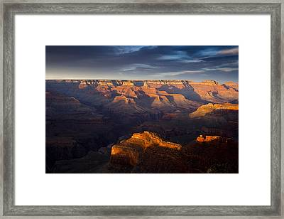 Receding Light At The Canyon Framed Print by Andrew Soundarajan