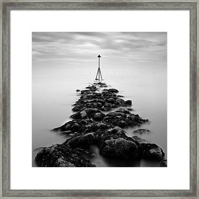 Receding Tide Framed Print by Dave Bowman