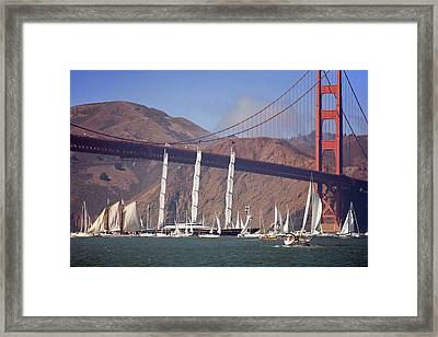 Reception At The Golden Gate Framed Print by Daniel Furon