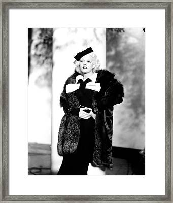 Reckless, Jean Harlow, In A Suit Framed Print by Everett