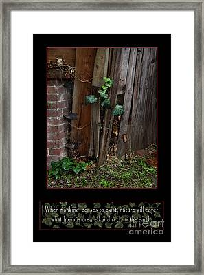 Reclaim No.3 Framed Print by Peter Piatt