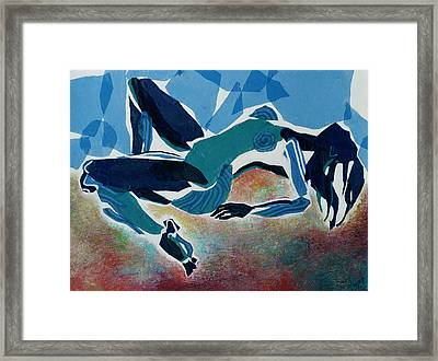 Recline Framed Print by Diane Fine