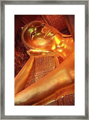Reclining Buddha Framed Print by Adam Romanowicz