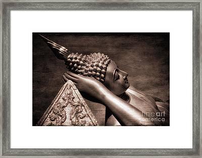 Reclining Buddha Framed Print by Adrian Evans