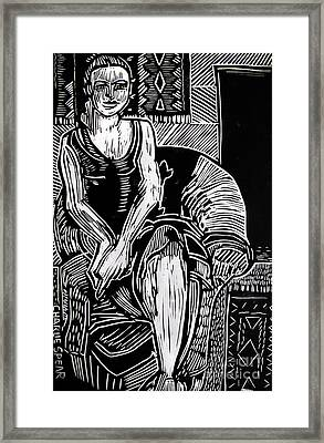 Reclining Framed Print by Charlie Spear