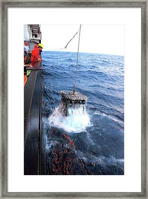 Recovering Robotic Underwater Vehicle Framed Print by B. Murton/southampton Oceanography Centre