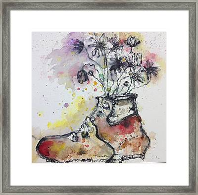 Recycle Shoes Framed Print by Isaac Alcantar