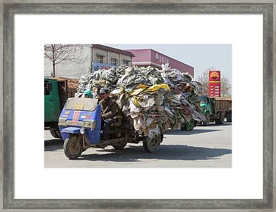 Recycling Framed Print by Ashley Cooper