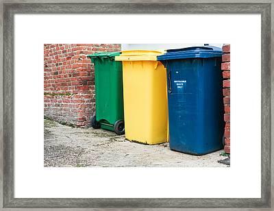 Recycling Bins Framed Print by Tom Gowanlock