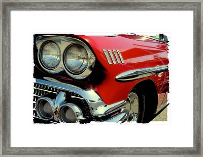 Red 1958 Chevrolet Impala Framed Print by David Patterson