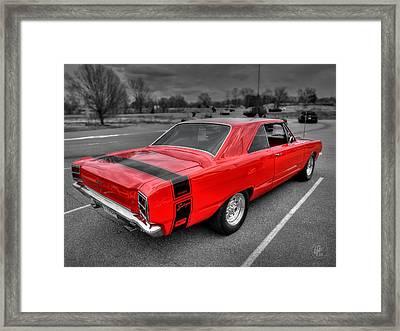 Red '69 Dodge Dart Swinger Framed Print by Lance Vaughn