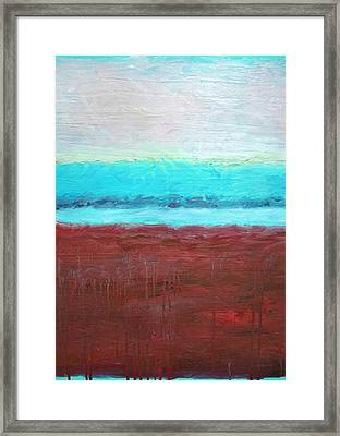 Red And Aqua Get Married Framed Print by Michelle Calkins