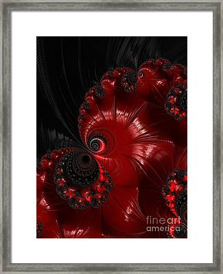 Red And Black  Framed Print by Heidi Smith