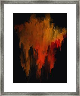 Red And Gold 1 Framed Print by Michael Pickett