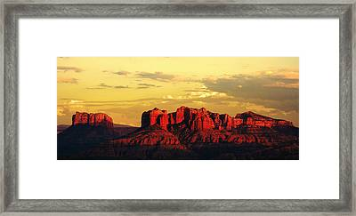 Red And Gold Framed Print by Alexey Stiop
