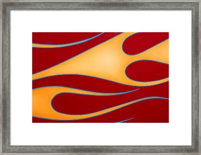 Red And Gold Framed Print by Joe Kozlowski