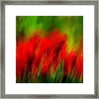 Red And Green Framed Print by Lourry Legarde