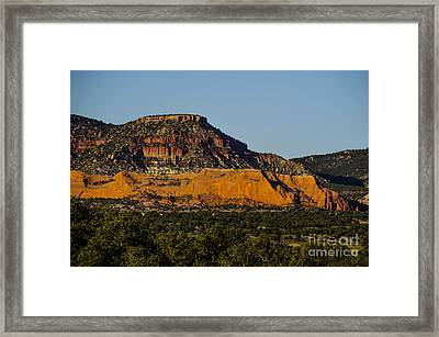 Red And Green Plateau New Mexico Framed Print by Deborah Smolinske