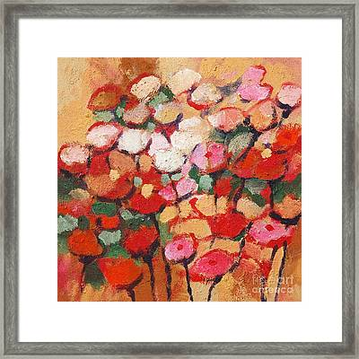 Red And White Flowers Framed Print by Lutz Baar