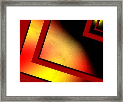 Red Angle With Yellow Framed Print by Mario Perez