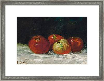 Red Apples Framed Print by Gustave Courbet