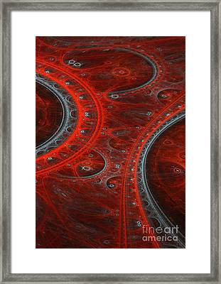 Red Arc Framed Print by Martin Capek
