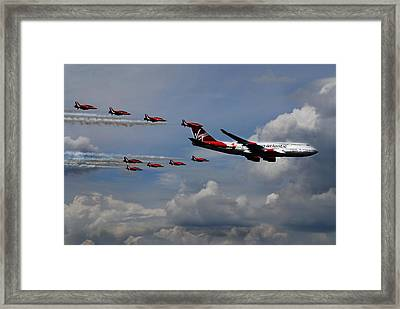 Red Arrows And Lady Penelope Framed Print by Mark Rogan