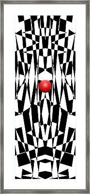 Red Ball 21 V Panoramic Framed Print by Mike McGlothlen