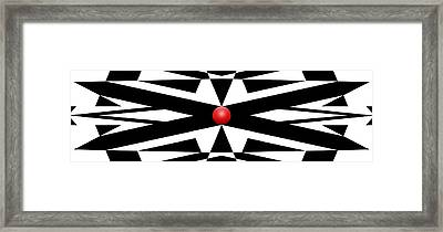 Red Ball 25a Panoramic Framed Print by Mike McGlothlen