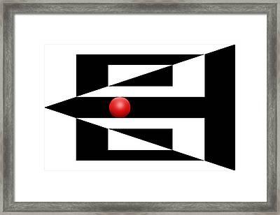 Red Ball 3 Framed Print by Mike McGlothlen