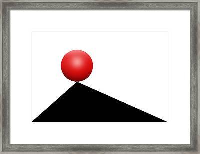 Red Ball 30 Framed Print by Mike McGlothlen