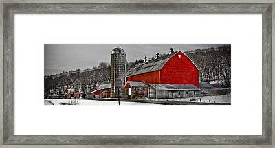Red Barn No. 1 Framed Print by Patsy Zedar