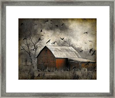 The Old Red Barn Framed Print by Gothicolors Donna