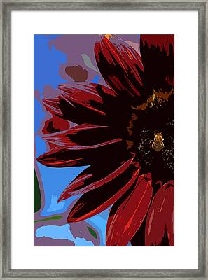 Red Be There Cut Out Framed Print by Scott Campbell