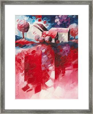 Red Framed Print by Beatrice BEDEUR