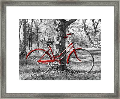 Red Bicycle Framed Print by James Granberry