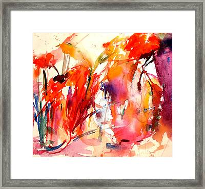 Red Blooms Framed Print by  Tolere