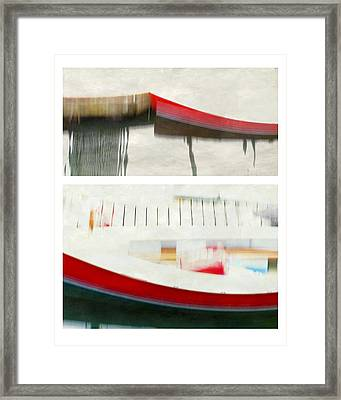 Red Boat At The Dock Framed Print by Patricia Strand