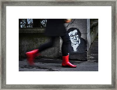 Red Boots Framed Print by Dragan M. Babovic
