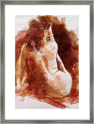 Red Bracelet Framed Print by John  Svenson