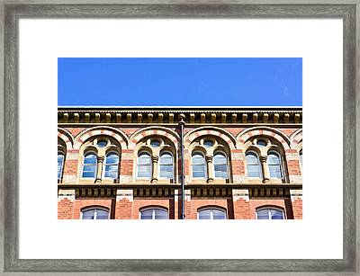 Red Brick Building  Framed Print by Tom Gowanlock