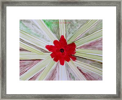 Red Brilliance Framed Print by Sonali Gangane