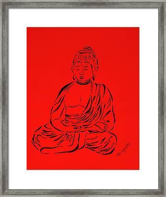Red Buddha Framed Print by Pamela Allegretto
