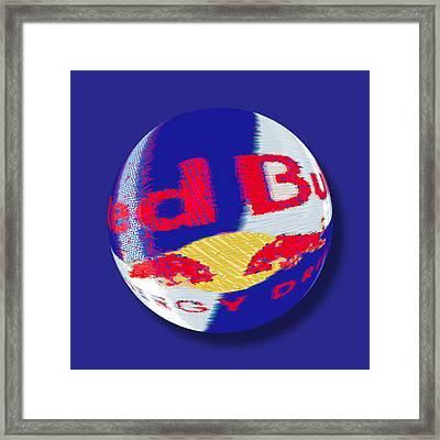 Red Bull Orb Framed Print by Tony Rubino