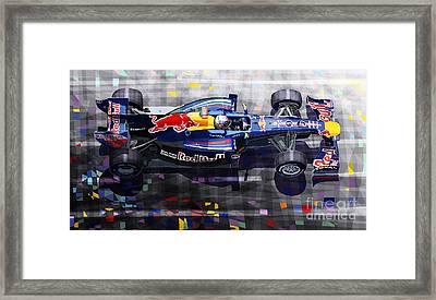 Red Bull Rb6 Vettel 2010 Framed Print by Yuriy  Shevchuk