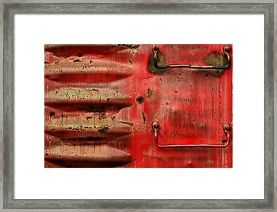Red Caboose Framed Print by Steven  Michael
